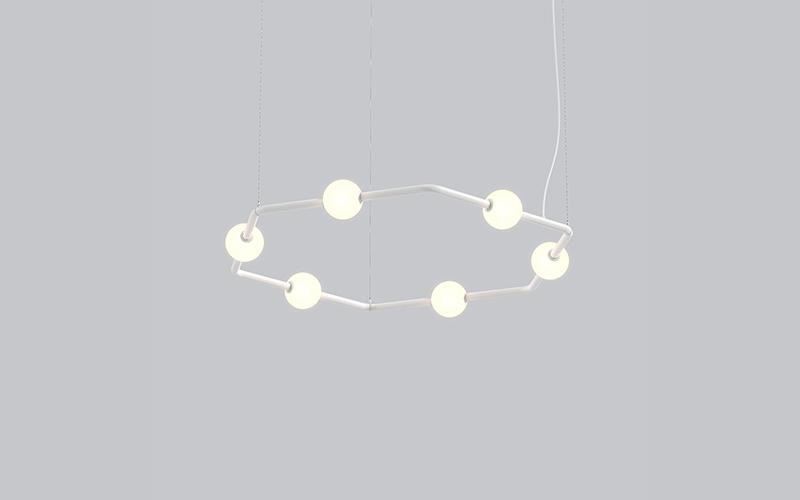Eureka Lighting. 74600. BERRI-HEXAGONAL CEILING SUSPENDED.