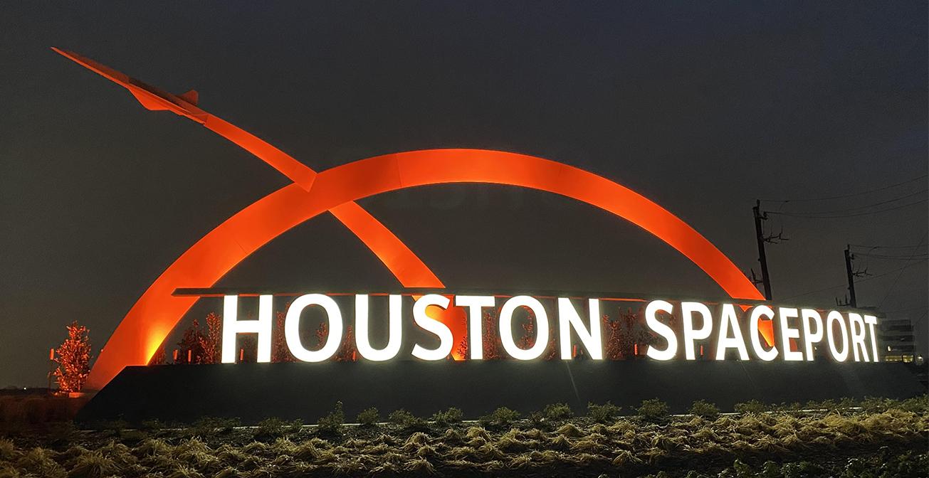 Insight Lighting Houston Spaceport Monument