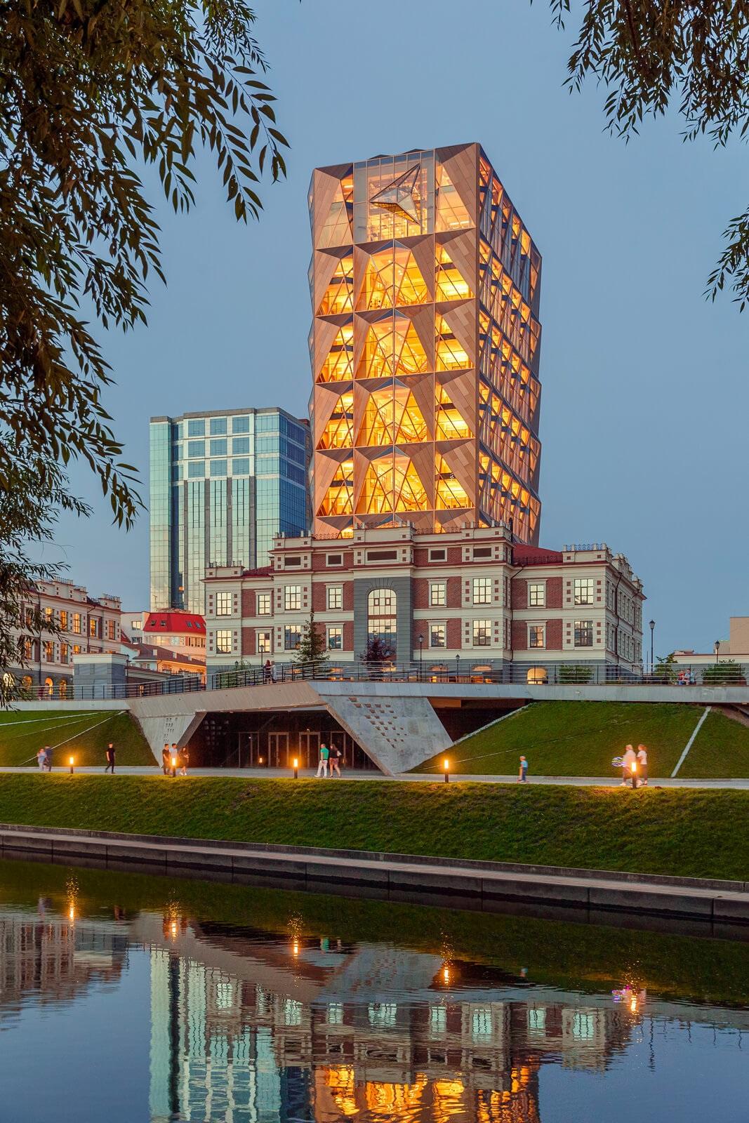Linea Light Russian Copper Company Headquarters